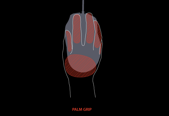 Gaming Mouse Palm Grip